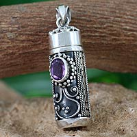 Amethyst-locket-pendant-Hear-My-Prayer-India
