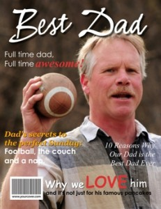 Best Dad Magazine Cover