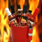Blazing Bucket of Fire Hot Sauce Basket