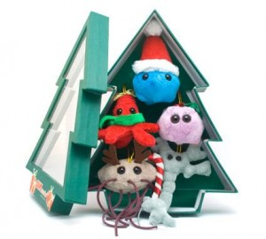 GIANTmicrobes® Christmas Tree Gift Box of Ornaments