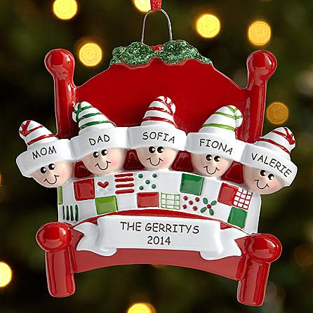 Snuggle up family personalized ornament christmas gifts for Family christmas ornaments to make