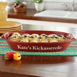 Stoneware Personalized Casserole Dishes