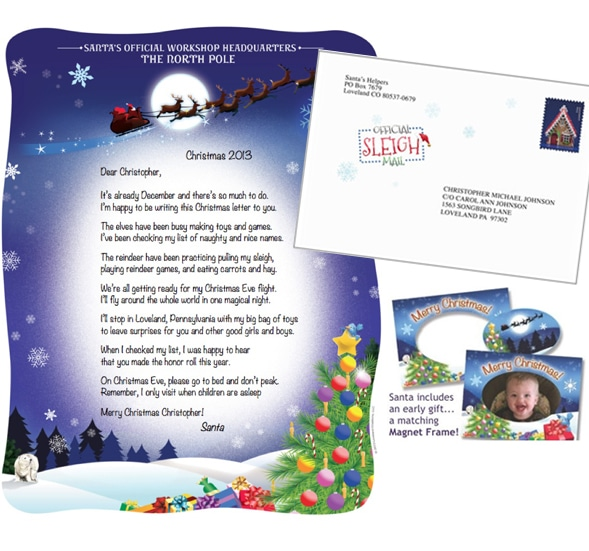 Letter and Gift from Santa Claus