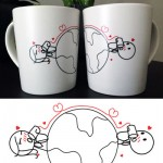 Love Has No Distance Couple Mugs