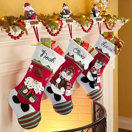 Christmas Stocking Personalized.Winter Wonderland Personalized Stockings