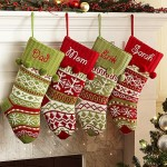 Knit-Argyle-Snowflake-Personalized-Stockings