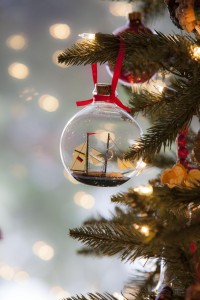 Christmas ornament on tree