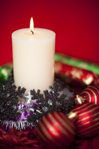 cosy festive candle