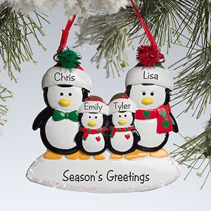 Penguin-Family©-Personalized-Ornament-4-Names