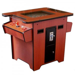 Cocktail Table Arcade Machine with Vertical Games – Cherry
