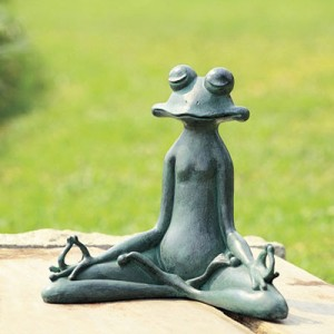 Contented Yoga Frog Garden Sculpture