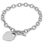 Personalized Quality Heart Charm Bracelet
