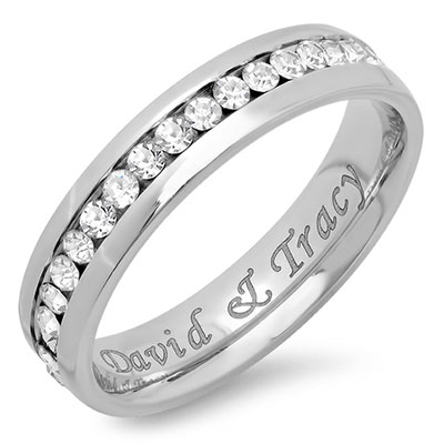 Personalized Stainless Steel Eternity Ring