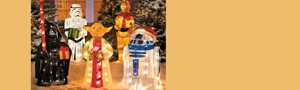 Tinsel Christmas Star Wars Characters With Gift