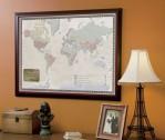 Personalized World Traveler's Map