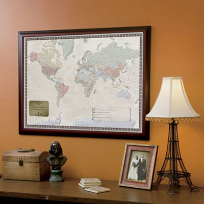 Personalized World Traveler's Map