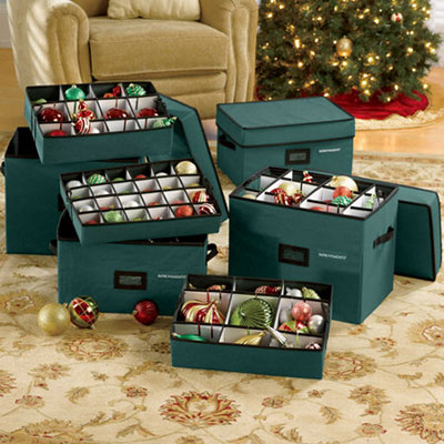 ornament storage boxes - Christmas Decoration Storage Containers
