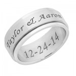 Personalized Stainless Steel Spinner Ring
