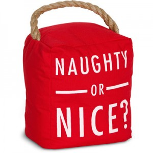 Naughty or Nice Door Stopper