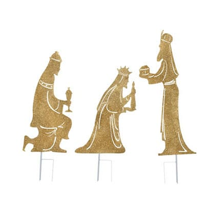 Religious Christmas Gifts.Glittering Nativity Silhouette Yard Decor