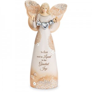 "Love - 7.5"" Angel Holding Hearts"