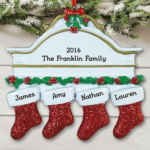 Personalized White Mantle Ornament #825213X