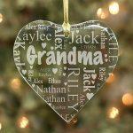 Grandma's Heart Word-Art Ornament #8780714H