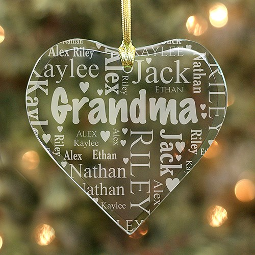Grandma's Heart Word-Art Ornament #8780714H