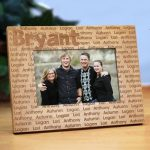 Custom Family Name Wood Frame #9866X