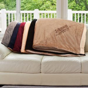 Sherpa Blanket Personalized gift