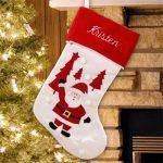 Embroidered Santa Stocking