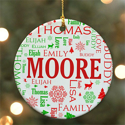 Word Art Ornament