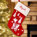 Personalized Scarfed Reindeer Stocking