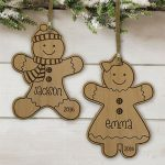 Personalized Gingerbread Wooden Ornament