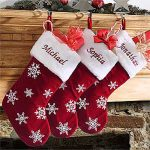 Classic Red Velvet Personalized Stockings