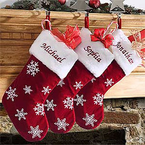 Personalized Velvet Stockings Christmas Gifts