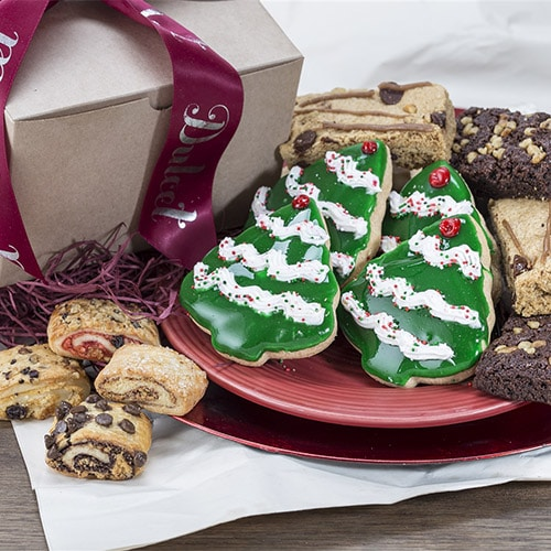 Dulcet's Holiday Festive Gift Assortment with Cookies, Brownies, and Rugelach