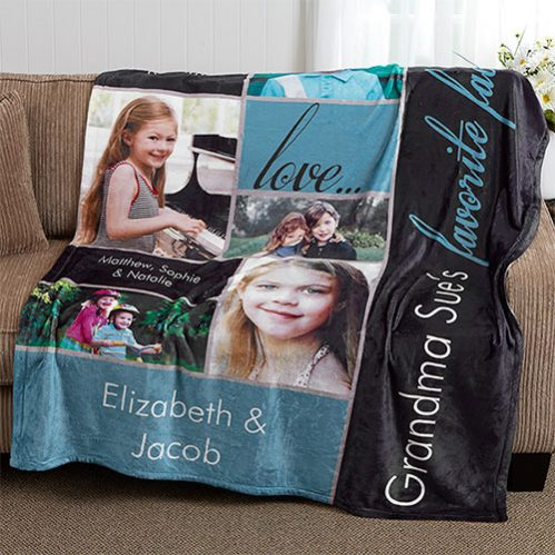 Custom Photo Collage Blanket