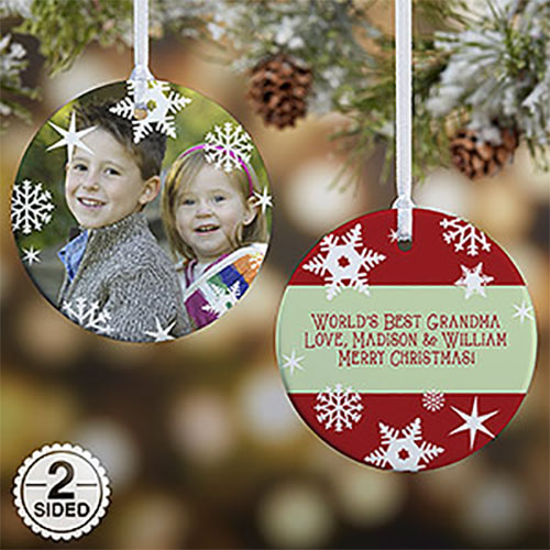 Snowflake Custom Photo Ornament
