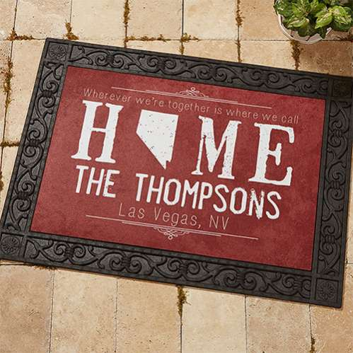 State of Love Custom Doormats