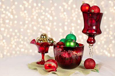 retro Christmas decorations arrangements