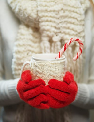red gloves with cup considerate Christmas gifts