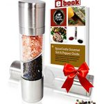 SpiceCrafts Dual Salt & Pepper Grinder Set