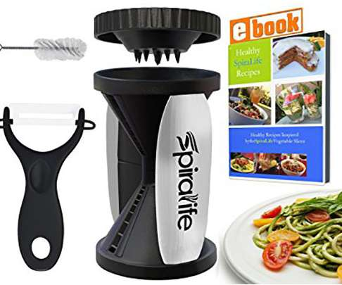 SpiraLife Handheld Vegetable Spiralizer & Zucchini Pasta Maker