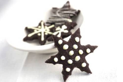 Chocolate Cookies with Peppermint