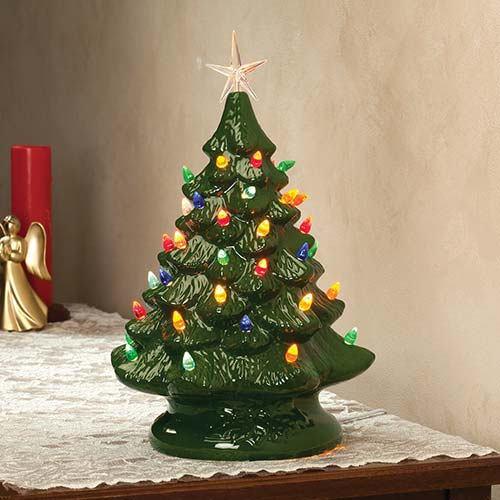 nostalgic ceramic christmas tree