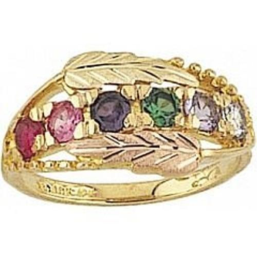 Black Hills Gold Mother's Ring - 2 To 6 Stones