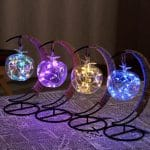 Crescent Moon Fairy Light Lantern