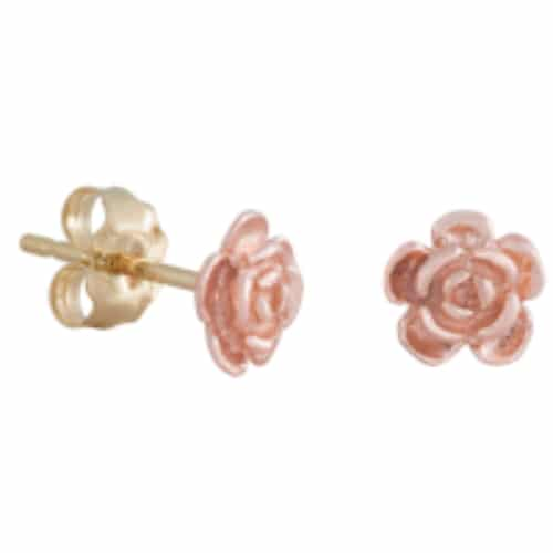 Red Gold Rose Baby Earrings