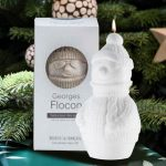 Winter White Snowman Candle
